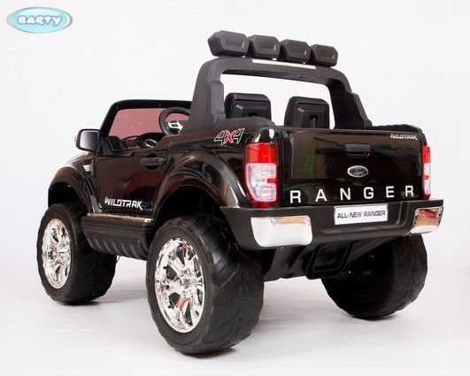 Электромобиль Ford Ranger F650 4WD черный (2х местный, сенсорная медиа панель, резина, кожа, пульт)