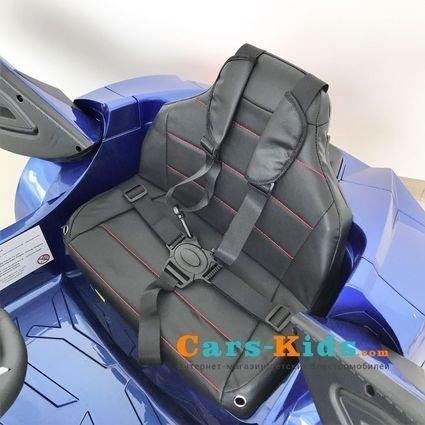 Электромобиль Lykan Hypersport QLS 5188 4WD синий (полный привод, колеса резина, кресло кожа, пульт, музыка)