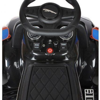 Электромобиль-каталка Jaguar F-Type Convertible Black 6V 2.4G - DMD-238-B (музыка, пульт, свет фар, ремень, педаль газа)