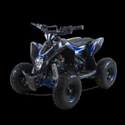 Детский квадроцикл бензиновый Motax GEKKON 70cc  (1+1) черно-синий (пульт контроля, до 45 км/ч, реверс)