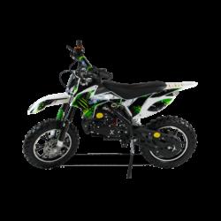 Мини кросс бензиновый MOTAX 50 cc бело зеленый (бензиновый, мех стартер, до 50 кг, до 45 км/ч, вариатор, тормоза дисковые механические)