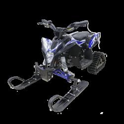 Детский снегоход электрический Gekkon Snow 1300W (Снегоцикл) черно-синий (до 30 км/ч, дисковые тормоза, до 60 кг)